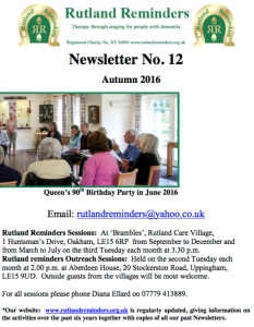 Rutland Reminders Autumn Newsletter Cover